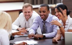 corporate culture smiling